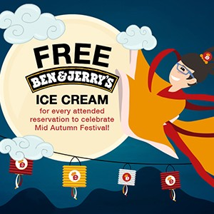 FREE Ben & Jerry's ice cream to share with your loved ones this Mid-Autumn Festival!