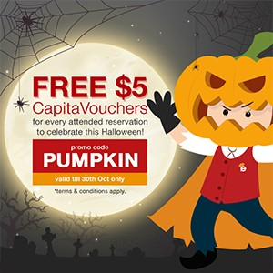 FREE $5 CapitaVoucher to hand out for Trick-or-Treating this Halloween!