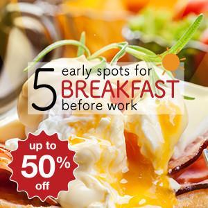 5 สุดยอดร้านอาหารสำหรับมื้อเช้าก่อนไปทำงาน!