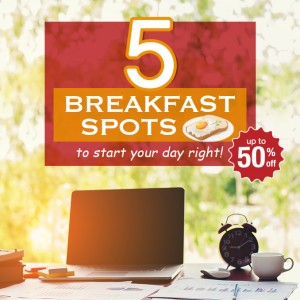 Blog - 5 Breakfast spots to start your day right!