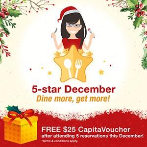 [5-star December] dine more, get more!