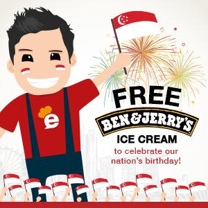 FREE Ben and Jerry's ice cream to continue the celebrations this National Day weekend!