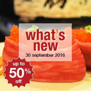 15 new restaurants this week! (30 September)